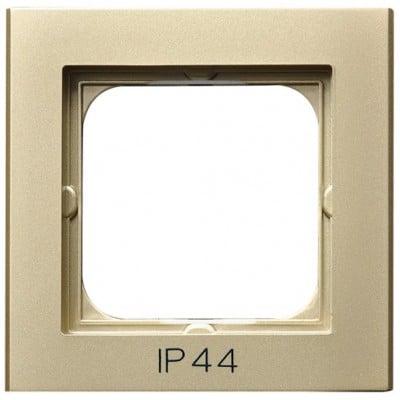 Ramka pojedyncza do łączników IP-44 SONATA SZAMPAŃSKI ZŁOTY