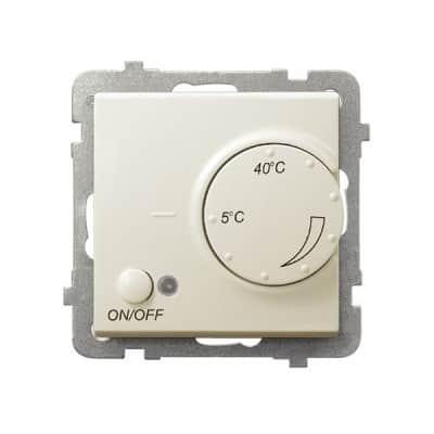 Regulator temperatury z czujnikiem podpodłogowym SONATA ECRU