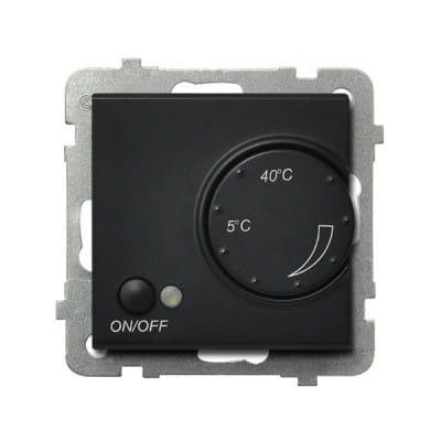 Regulator temperatury z czujnikiem napowietrznym SONATA CZARNY METALIK