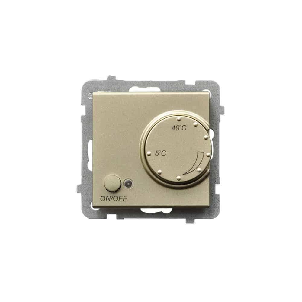 Regulator temperatury z czujnikiem napowietrznym SONATA SZAMPAŃSKI ZŁOTY