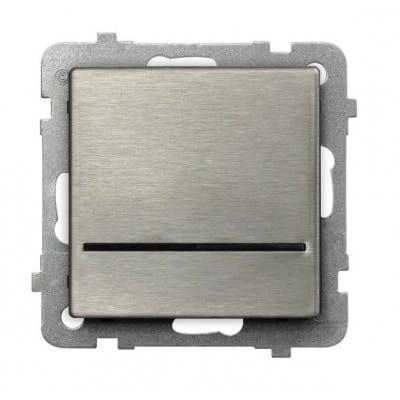 Łącznik kontrolny z podświetleniem niebieskim SONATA STAL INOX STAL INOX