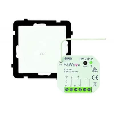 Zestaw łącznika bezprzewodowego do sterowania oświetleniem, do systemu F&F STEROWANIE BEZPRZEWODOWE BIAŁY