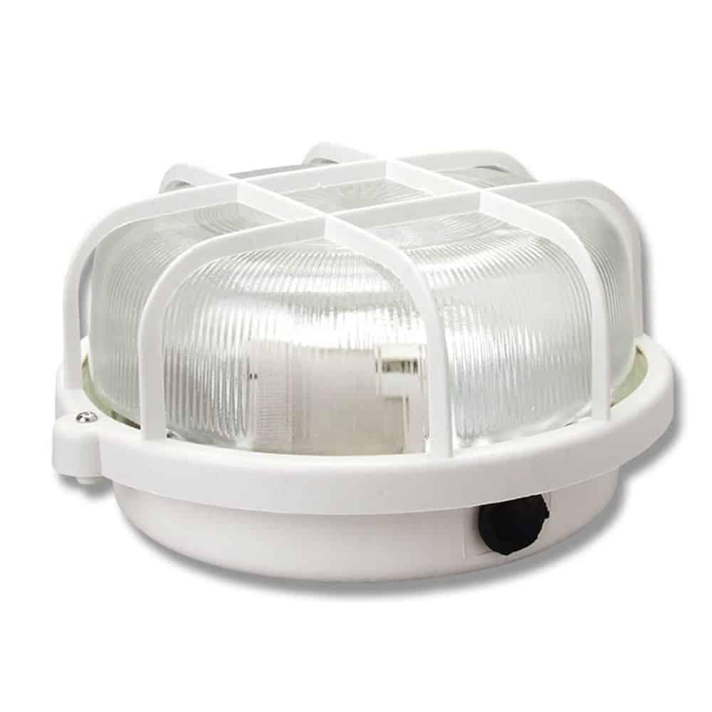 Oprawa kanałowa okrągła lampa garażowa z plastikową siatką 60W 1101