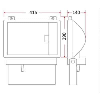 Oprawa naświetlacz metalohalogenowy, lampa 400W NM-400
