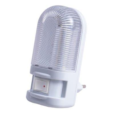 Lampka nocna do gniazdka LN-07 LED ciepło biała z wyłącznikiem