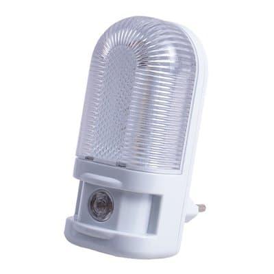 Lampka nocna w kontakt z czujnikiem zmierzchu LN-08 LED SENSOR ciepło biała