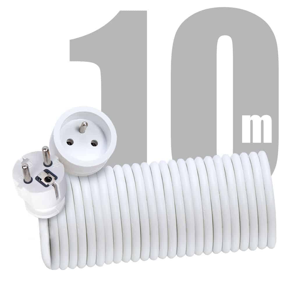 Przedłużacz mieszkaniowy 1 gniazdo 10m domowy PM/1-3-10m z uziemieniem