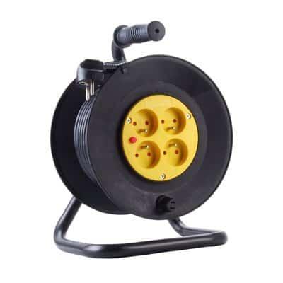 Przedłużacz szpulowy 40m bębnowy 3x1 na zwijaku PS/4-3-40M-1
