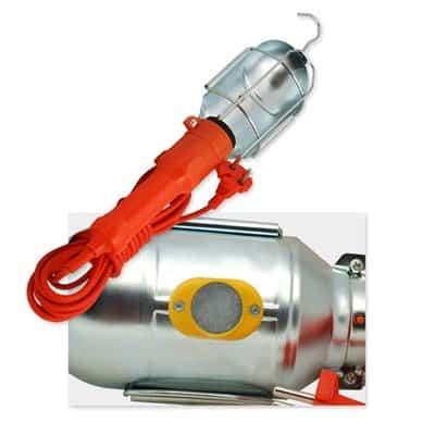 Oprawa przenośna 60W z magnesem lampa warsztatowa A-1/M na kablu 5m z osłoną