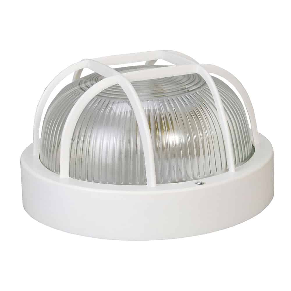 Oprawa kanałowa lampa garażowa okrągła z plastikową siatką 60W 1042