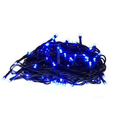 Lampki choinkowe LED wewnętrzne 100 sztuk z dodatkowym gniazdem LW-LED-100G niebieskie