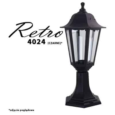 Lampa ogrodowa stojąca RETRO-4024 zewnętrzna latarnia