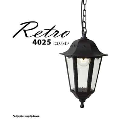 Lampa ogrodowa wisząca RETRO-4025 zewnętrzna latarnia