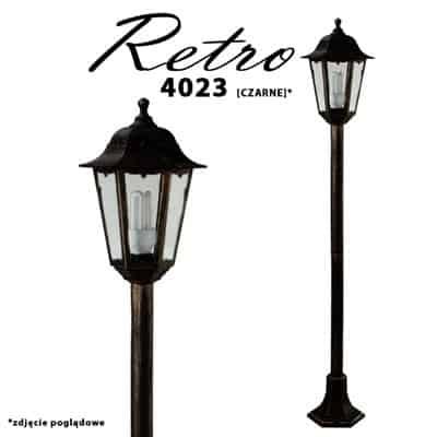 Słupek ogrodowy RETRO-4023 1.2 M lampa stojąca zewnętrzna