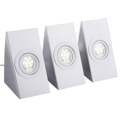 Oprawa kuchenna zestaw 3 szt. narożna podszafkowa meblowa LED OKN-3 LED 9 x 3