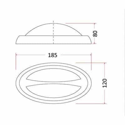 Oprawa zewnętrzna kinkiet lampa LED SKY OVAL-2
