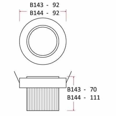 Oprawa sufitowa LED 10W wpuszczana COB B143