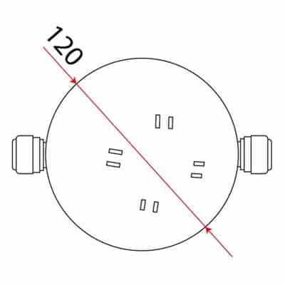 LD-10 kula do lampionu żarówkowego 12 cm