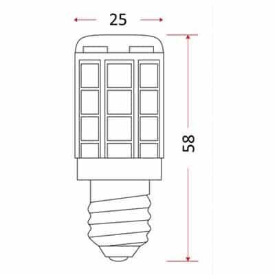 Żarówka tablicowa LED 1,4W ciepła LED-TAB-27 x SMD E14 CB