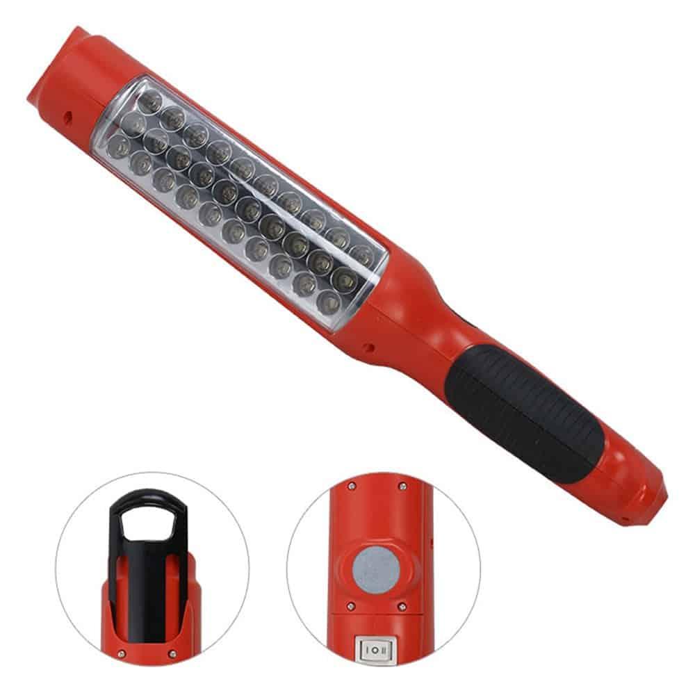 Oprawa przenośna 36 LED lampa warsztatowa latarka garażowa LED-05B2 akumulator