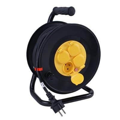 Przedłużacz na bębnie szpulowy guma PSG/4-3-25M