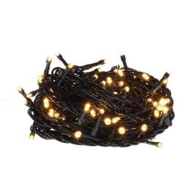 Lampki choinkowe LED wewnętrzne 100 sztuk z dodatkowym gniazdem LW-LED-100G ciepło białe