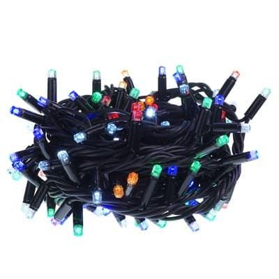 Lampki choinkowe LED zewnętrzne z programatorem 144 sztuki LZ-LED-TSR-144G komplet na zewnątrz z dodatkowym gniazdem mix, lampki