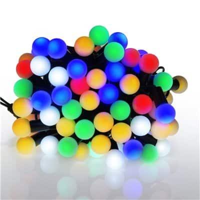 Lampki choinkowe LED wewnętrzne kulki mleczne 100 sztuk LW-LED-SBALL-100G kuleczki z dodatkowym gniazdem mix