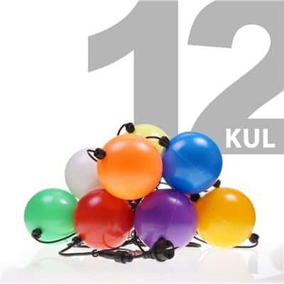 Lampki choinkowe polskie na zewnątrz LZ-LED-LD-12 lampion kule 12 sztuk