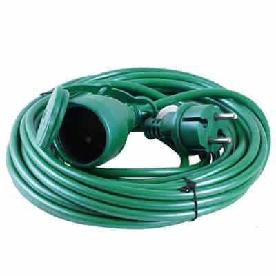 Przedłużacz choinkowy uniwersalny ogrodowy 20m PU-20 zielony zewnętrzny