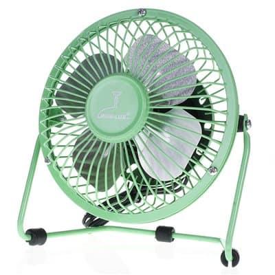 Wentylator biurkowy wiatrak usb BRYZA 13cm zielony