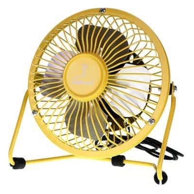 Wentylator biurkowy wiatrak usb BRYZA 13cm żółty