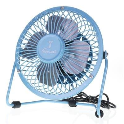 Wentylator biurkowy wiatrak usb BRYZA 13cm niebieski