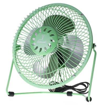 Wentylator wiatrak biurkowy usb ZEFIR 18 cm zielony