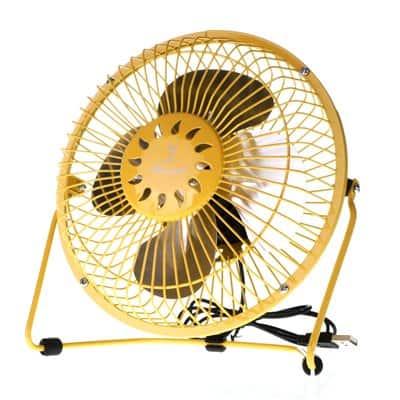 Wentylator wiatrak biurkowy usb ZEFIR 18 cm żółty