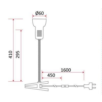 Lampka biurkowa L3A z klipsem E14 40W