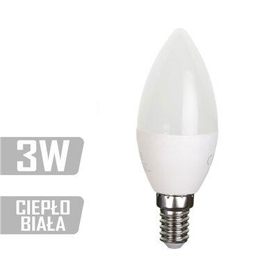 Żarówka LED-CA-3W-E14-WW (CB) 250lm 3W  25W świeczka ciepła