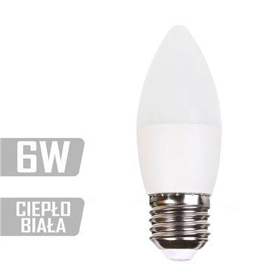 Żarówka LED-CA-6W-E27-WW (CB) 480lm 6W  40W świeczka