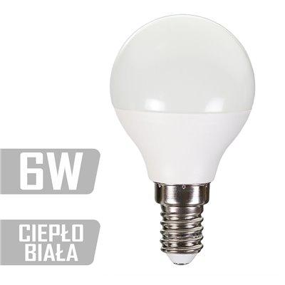 Żarówka LED-GL-6W-E14-WW (CB) 480lm 6W  40W kulka