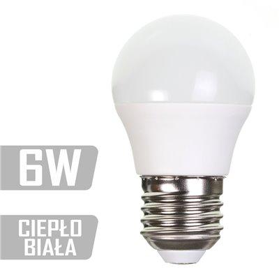 Żarówka LED-GL-6W-E27-WW (CB) 480lm 6W  40W kulka