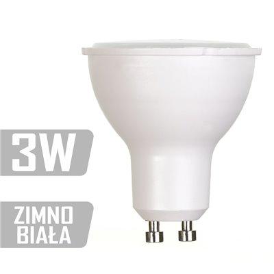 Żarówka LED-PL-3W-GU10-CW (ZB) 220lm 3W  20W zimna