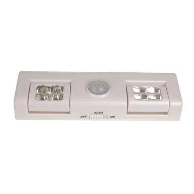 Lampka LBS-01 bateryjna LED z sensorem ruchu i zmierzchu samoprzylepna