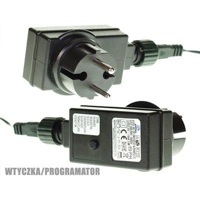 Lampki choinkowe z programatorem 300 szt. LED zimno białe zewnętrzne LZ-ECO-LED-300 ZB + programator