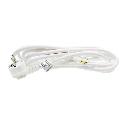 (C) Przewód przyłączeniowy kabel z wtyczką PP/3-3m 3x1,5 biały przyłącze