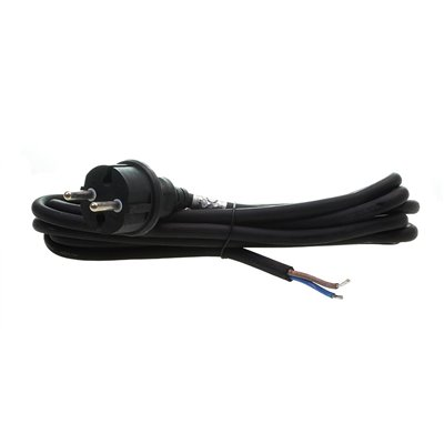 (G) Przewód przyłączeniowy kabel z wtyczką GUMA PPG/2-3m 2x1,5 czarny przyłącze
