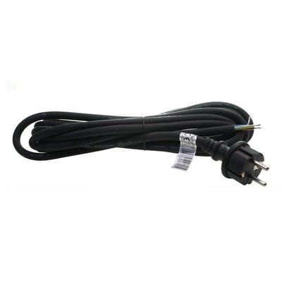 (J) Przewód przyłączeniowy kabel z wtyczką GUMA PPG/3-5m 3x1,5 czarny przyłącze