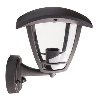 Kinkiet ogrodowy SZOT SENSOR plastikowa lampa zewnętrzna z czujnikiem ruchu i zmierzchu