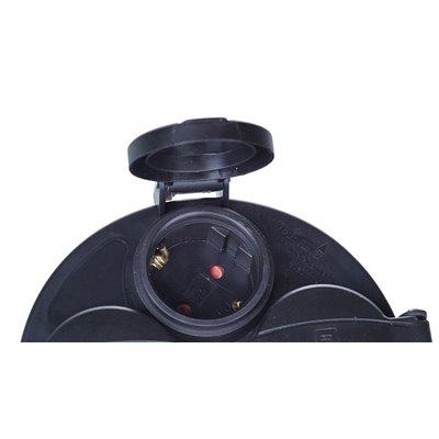(AR)Gniazdo do przedłużacza bębnowego szpulowego z klapkami BMP-04 IP44 czarne