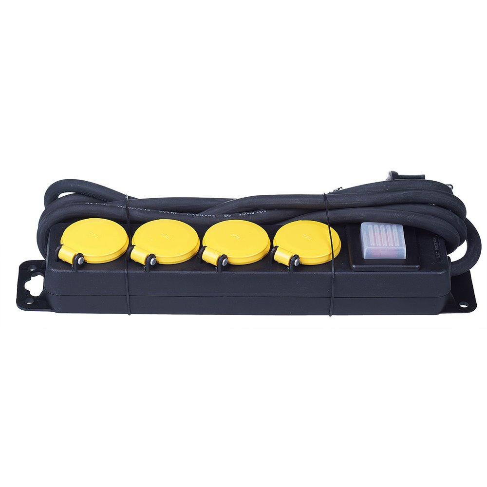 (AR)Przedłużacz budowlany z wyłącznikiem 4 gniazda 3m PS-W-430LS PB/4-3-3+w