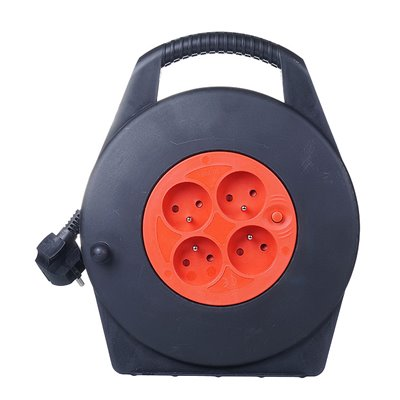 (AR)Przedłużacz zwijany w kasecie 4 gniazda PZ-4Z/KTS PK-1 10m